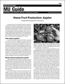 Home Fruit Production: Apples