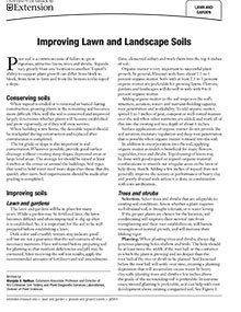 Improving Lawn and Landscape Soils