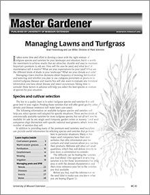 Managing Lawns and Turfgrass