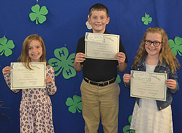 4-H awards recipients from Lafayette County