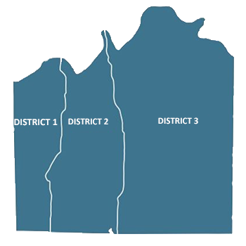 Jackson County Extension Council district map