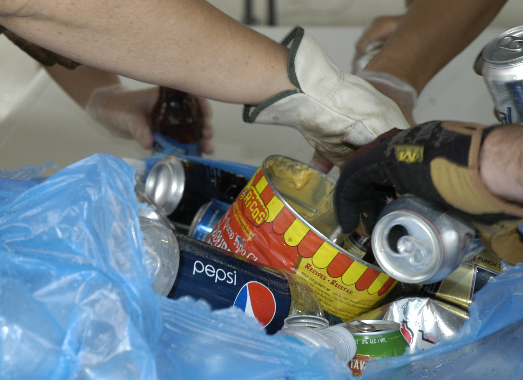 Students opened 86 trash bags and separated recyclable from nonrecyclable refuse.