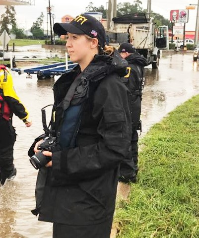 MU FRTI curriculum specialist Erin McGruder during her deployment with Missouri Task Force 1 in response to Hurricane Harvey.