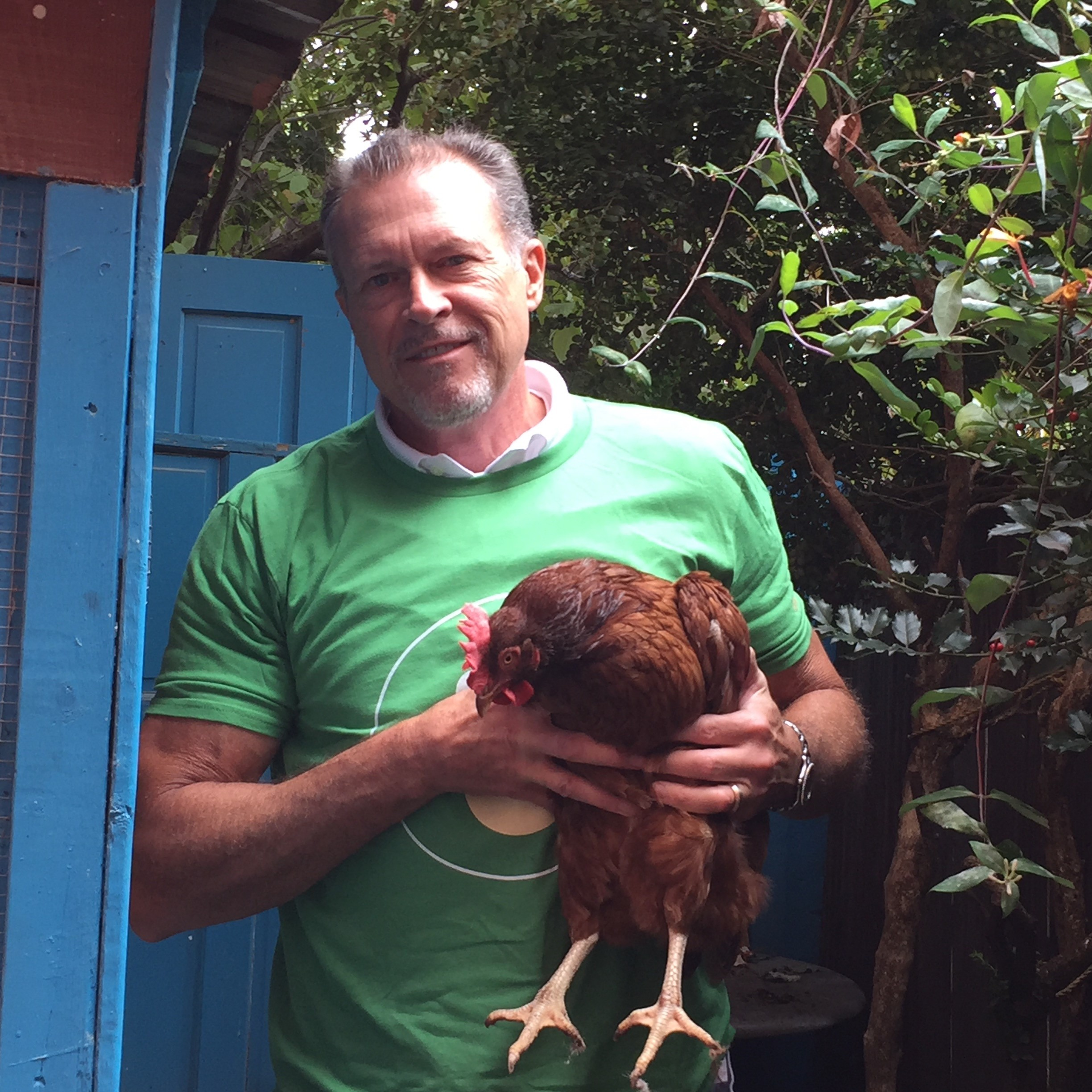 St. Louis Master Gardener Paul Whitsitt practices sustainable gardening in an urban setting. He raises chickens that provide eggs for a coffeehouse he owns in St. Louis' trendy Tower Grove area.