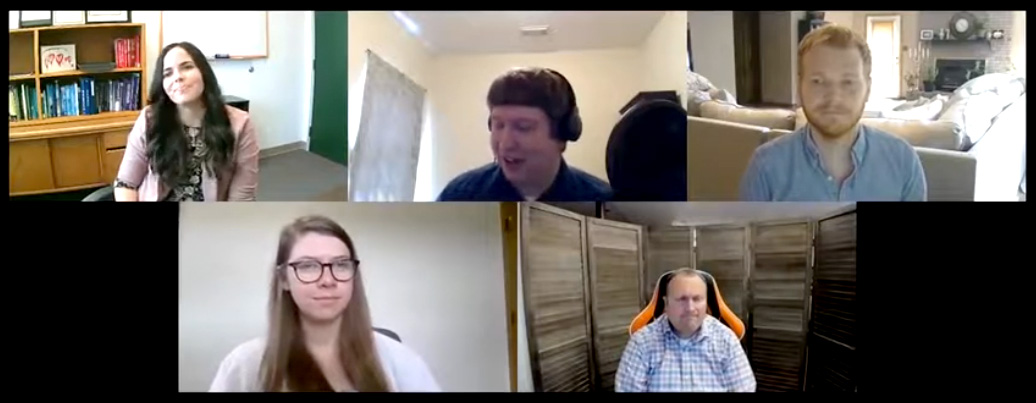 MU assistant professor and state extension specialist Kale Monk, top right, and other panelists discussed relationships in the COVID-29 era in a recent podcast.