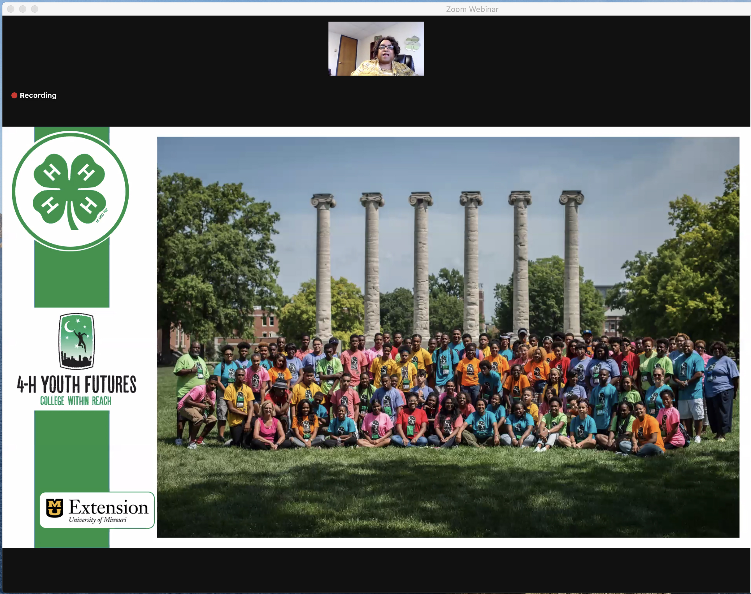 4-H Youth Futures Conference on the Mizzou and Lincoln University campuses offers workshops, information sessions and firsthand experience of college life. For 2020, Youth Futures held an abbreviated online conference.