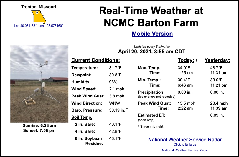 MU, NCMC launch new weather station