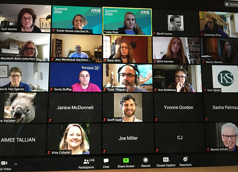 screenshot of Zoom session from 2020 Summit