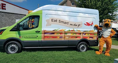 Eat Smart on the Go food demonstration truck