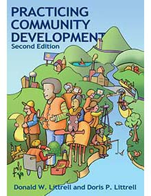 Cover of the second edition of Practicing Community Development