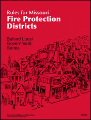 Rules for Missouri Fire Protect Districts manua cover.