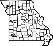 Missouri Agricultural Statistics Service reporting districts.