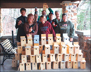 Building bluebird nest boxes and developing bluebird trails can be an excellent community project