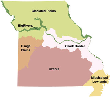 The state's natural regions