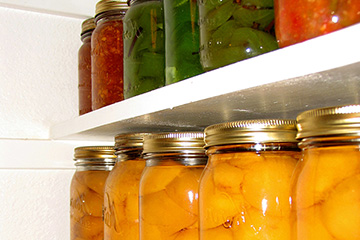 Properly stored canned foods
