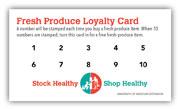 Fresh produce loyalty cards